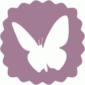 butterfly scallop badge