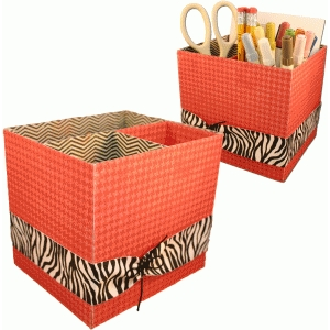 3d stationary & book holder organizer box