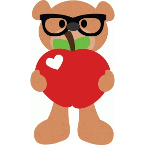 cute apple bear