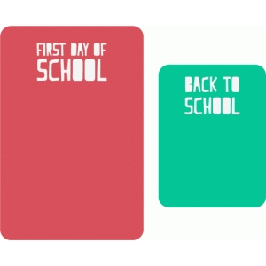 school journaling cards