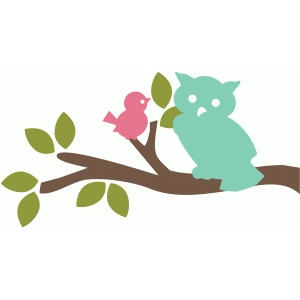 owl and bird branch