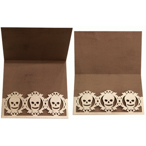card with skull pocket