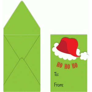 santa hat card holder