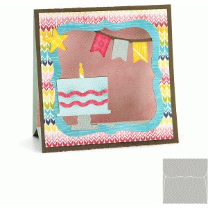 3d stand up card: birthday cake