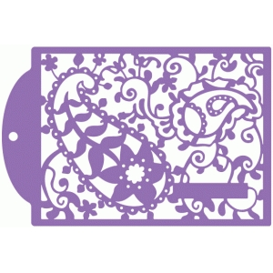 lace paisley tag