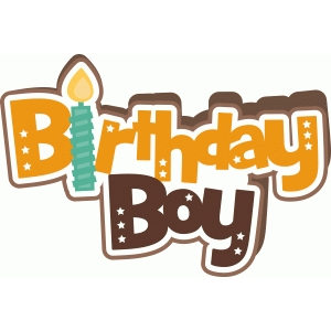 birthday boy shape card
