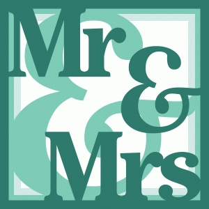 mr & mrs layered square