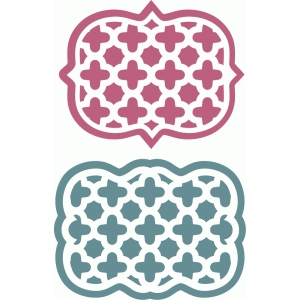 quatrefoil lattice pattern labels