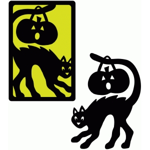 trick or treat cat card