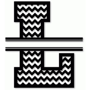 chevron split monogram l