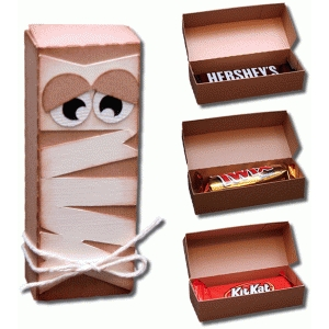 3d mummy snack size candy bar box
