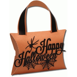 3d halloween handle pillow box