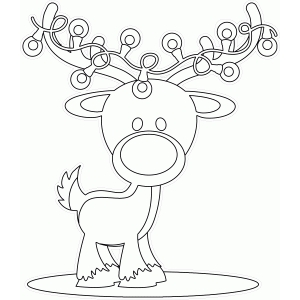 color me reindeer with lights