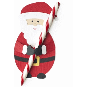 santa candy cane treat holder
