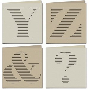 stripe monogram card yz&?