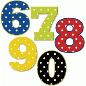 polka dot numbers 6-0