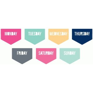 days of the week planner tabs