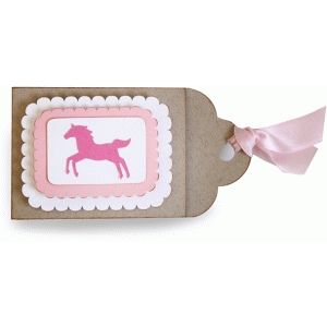 horse gift card tag