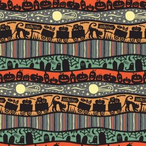 spookytown stripe pattern