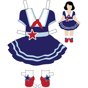 4th of july sailor dress with tabs