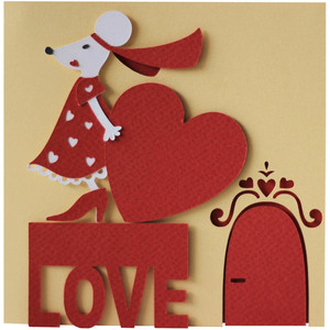 5x5 love mouse layer card
