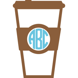 coffee cup monogram