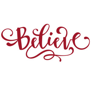 believe - holiday word