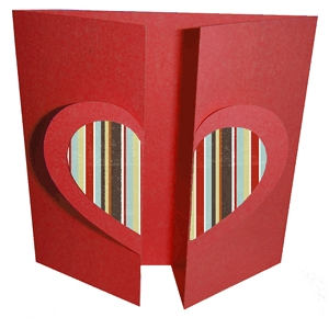 heart gate fold card