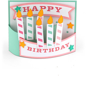 a2 flexi card happy birthday