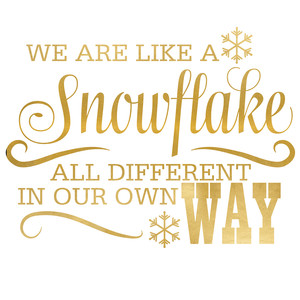 we are like a snowflake