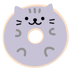 cute kitty cat doughnut