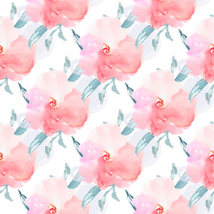 repeating pink flower pattern