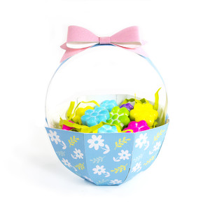 blue flowers basket