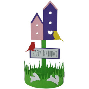 happy birthday birdhouse decoration