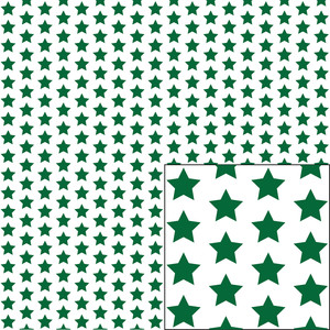 green on white star pattern