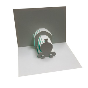locomotive popup card