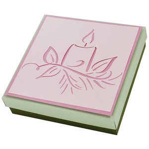 flourished christmas candle gift box