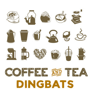 coffee & tea dingbat font
