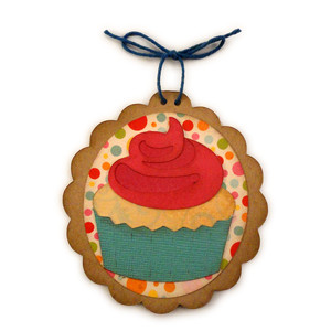 cupcake oval ornament