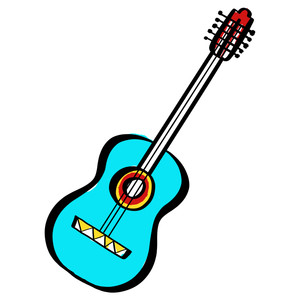 colored guitar