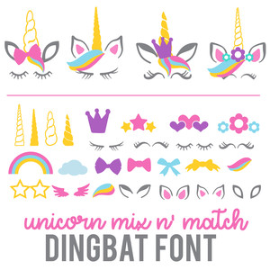 unicorn mix n' match dingbat font