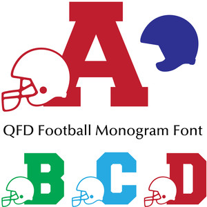 qfd football monogram font