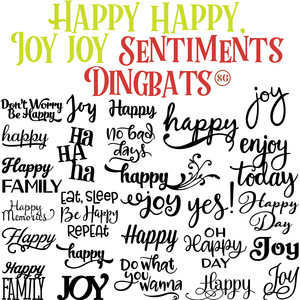 sg happy happy, joy joy sentiments dingbats