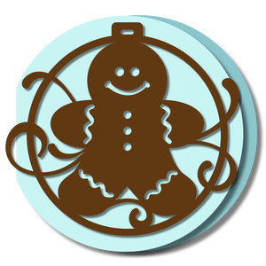 ornament card - gingerbread man