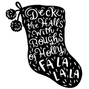 deck the halls christmas stocking
