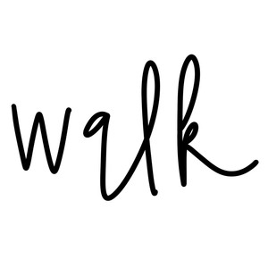walk word art