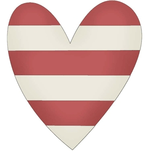 heart with stripes