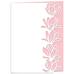 magnolia flower lace edged card