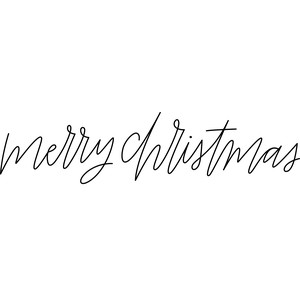 sketch merry christmas handwritten