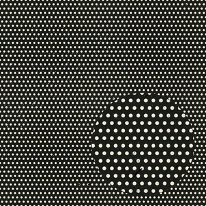 weathered black & white polka dot pattern